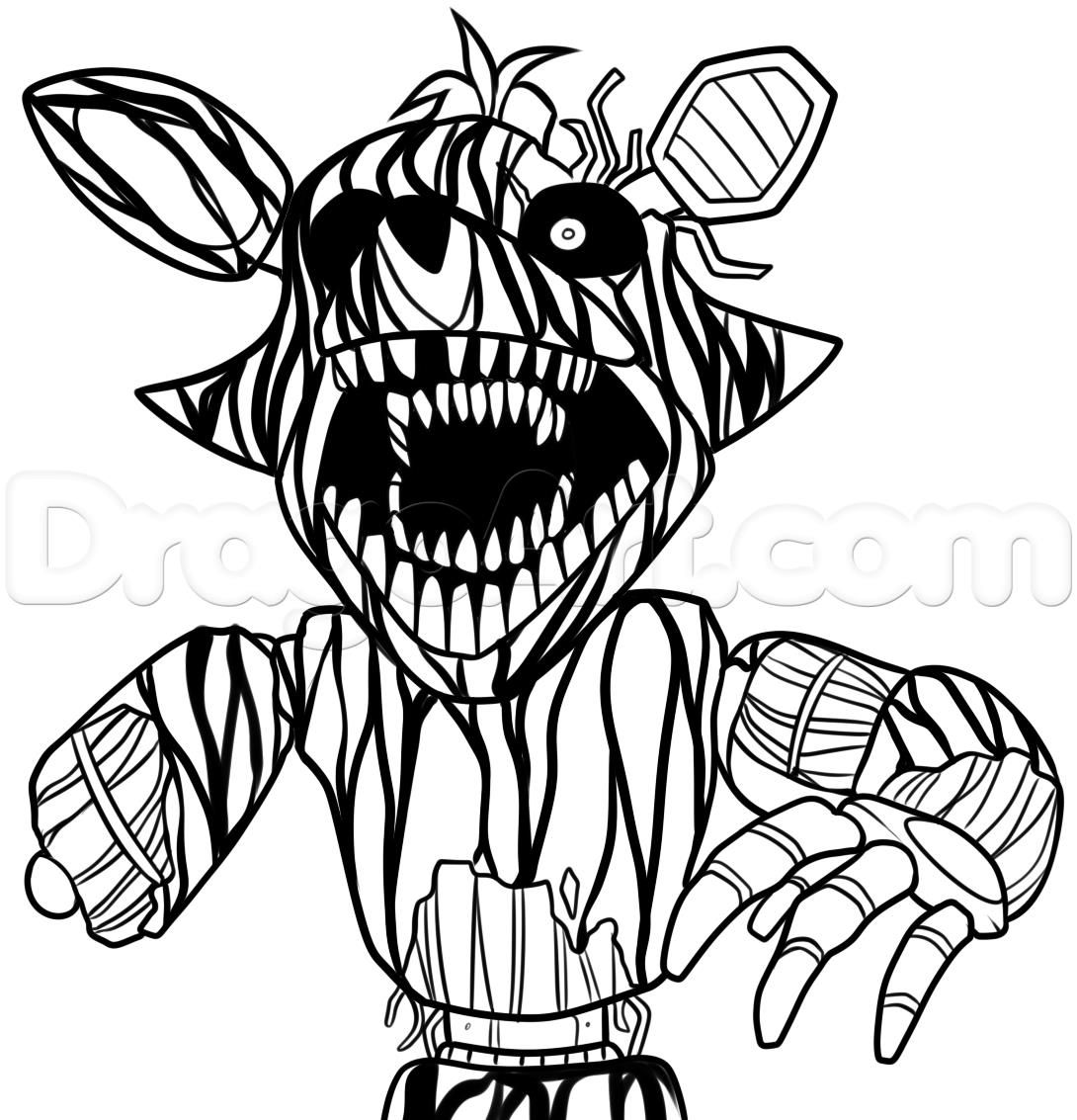 Colorings Five Nights At Freddys 4 Coloring