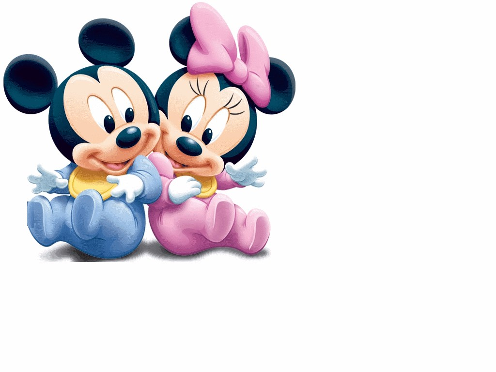 Minnie Baby Baby Mickey Mouse In Overalls Wall Decal
