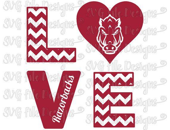 Download Chevron Love University of Arkansas Razorbacks Football ...
