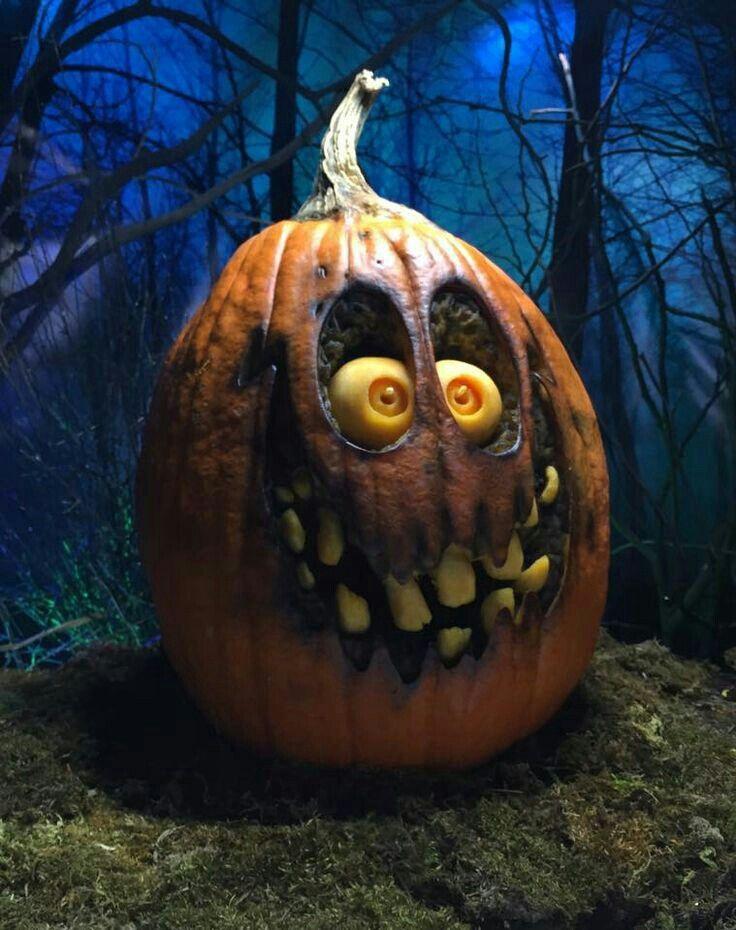 Scary pumpkin jackolantern halloween spooky halloween