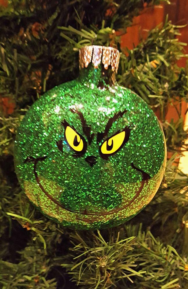 DIY Glitter Ornament Tutorial Glitter ornaments
