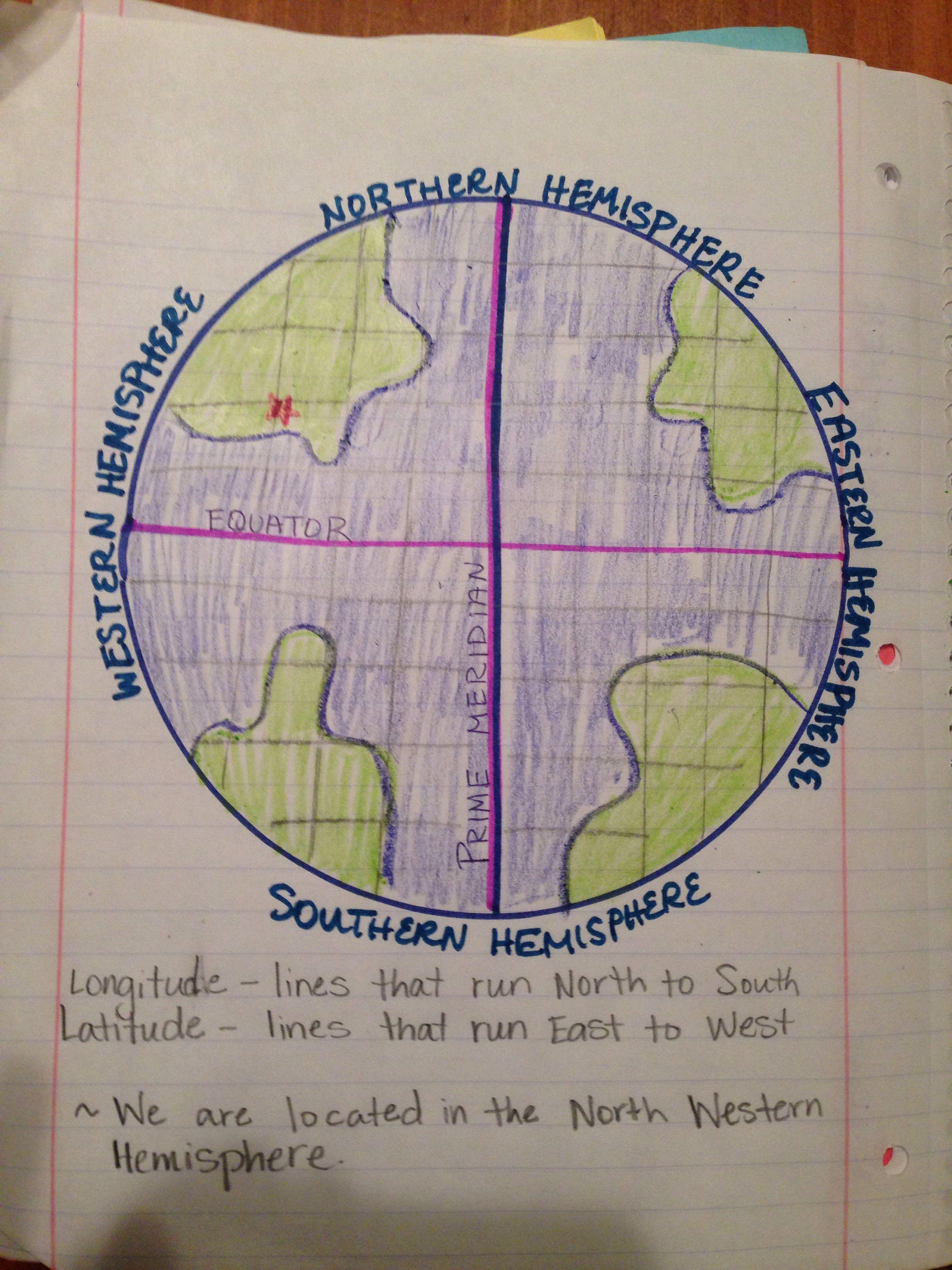 Longitude And Latitude 5th Grade Science Journaling