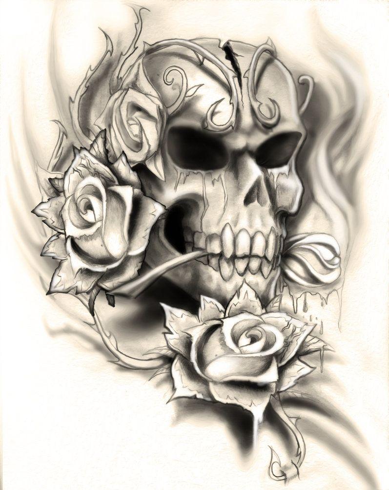rosetattoobydropkickmurphys.jpg (797×1003) skulls