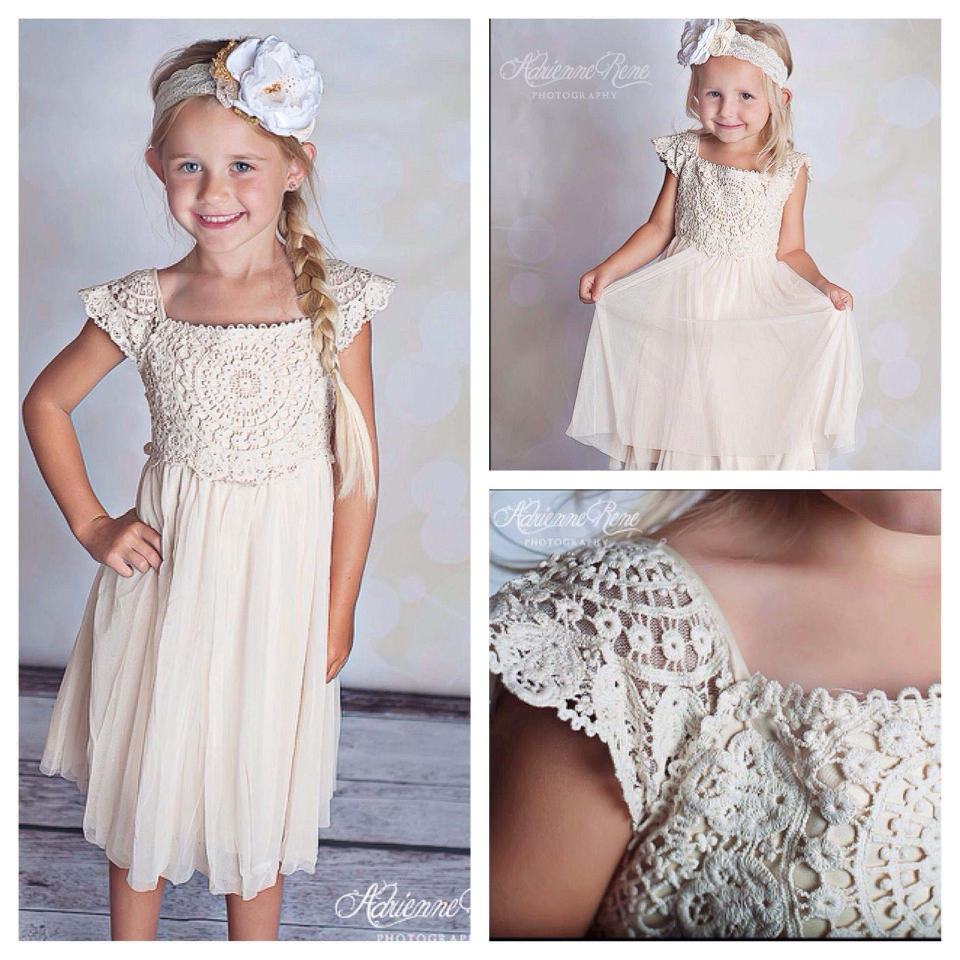Country Chic Vintage Perfect For Weddings Flower Girl