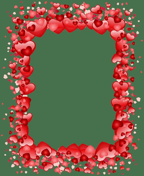 Valentine's Day Hearts Border Transparent PNG Clip Art