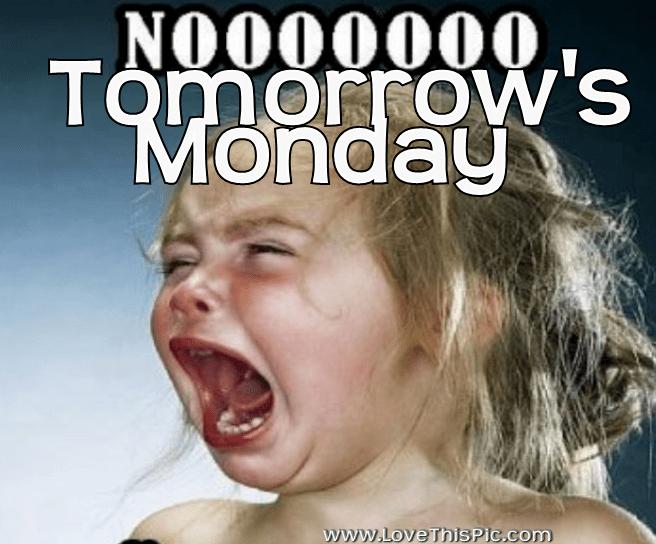 Crying Girl, No Tomorrow's Monday! W Pinterest Group, U