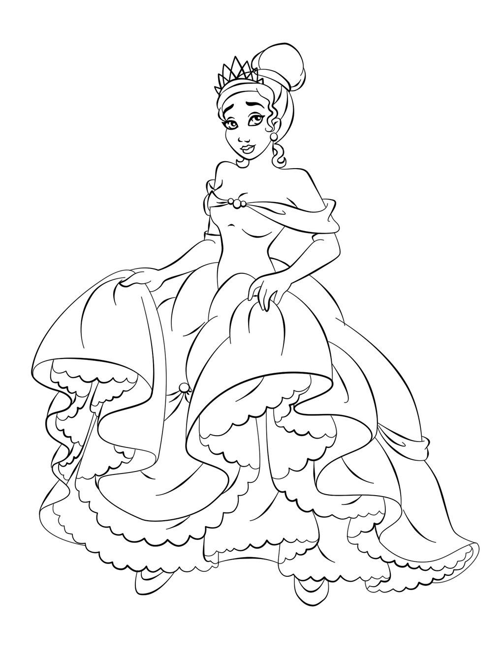 The Princess And The Frog Disney Coloring Page The Princess And