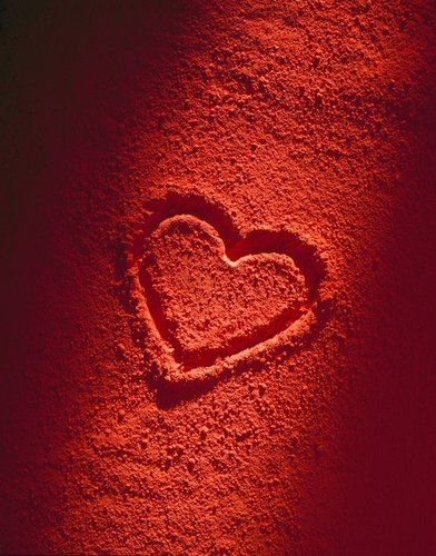 Beautiful Red Heart On The Sand The Countdown To