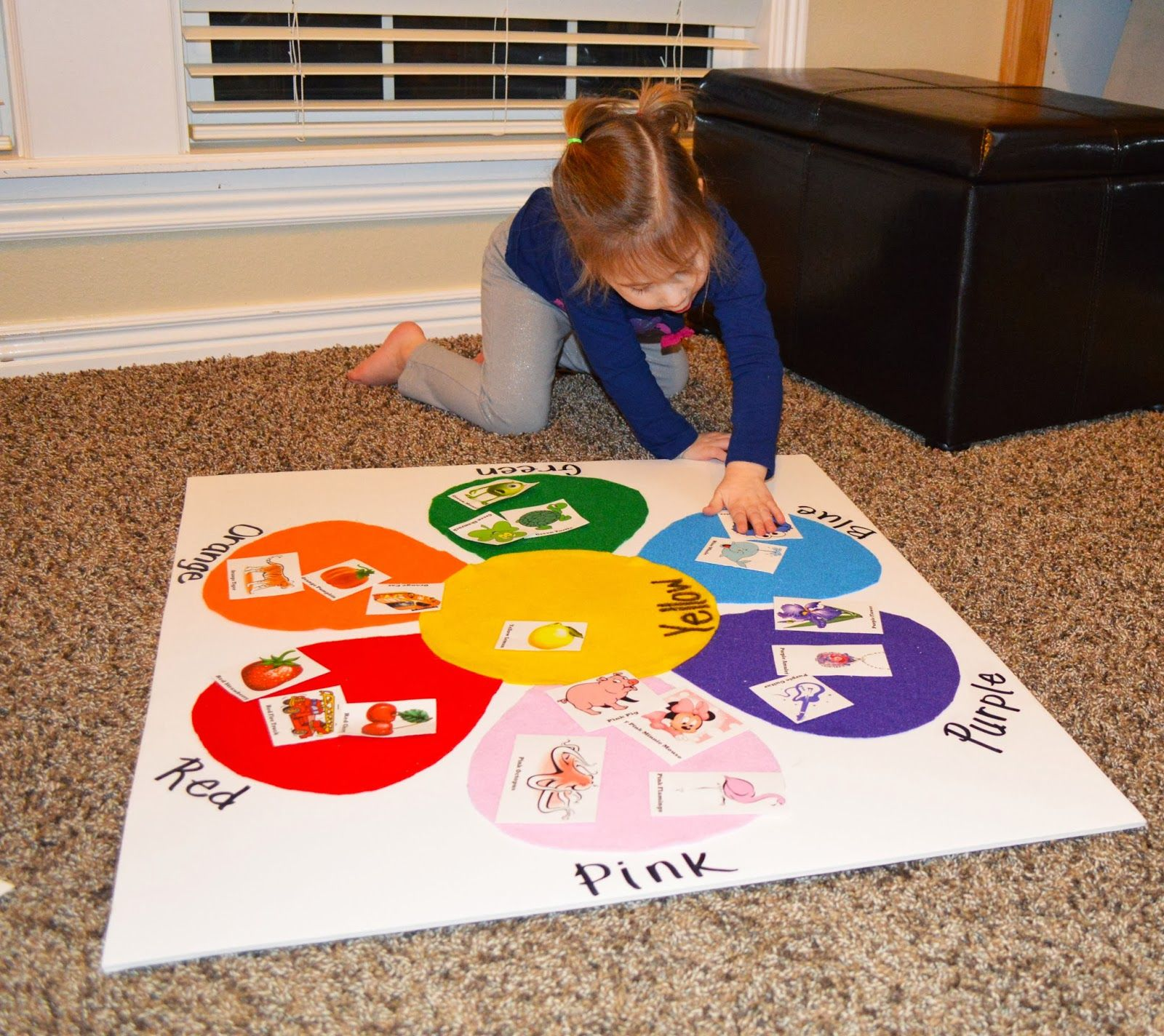 Toddler Color Matching Felt Board With Picture