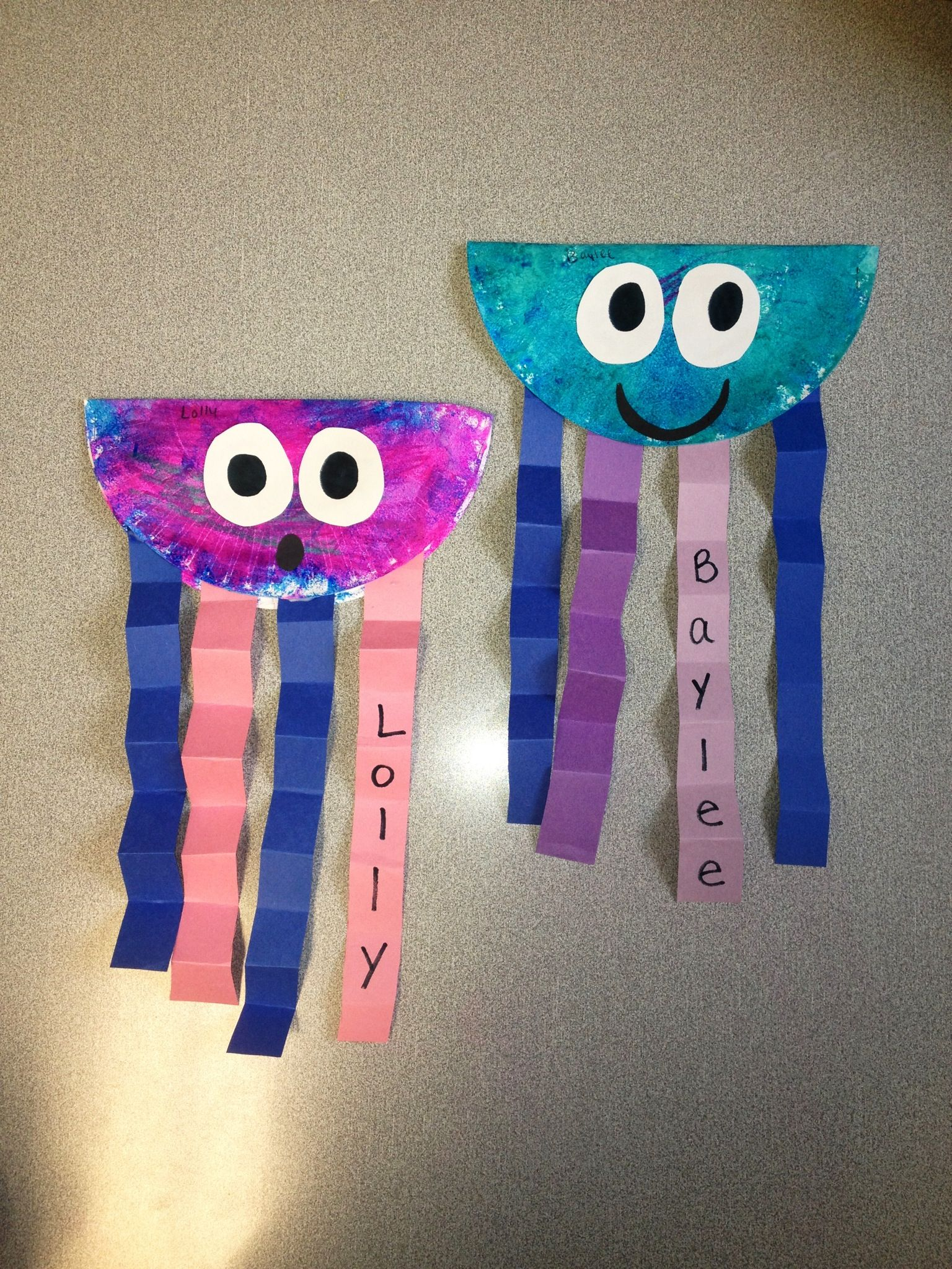 Summer Kids Craft With Paper Plates And Construction Paper Jellyfish Ocean Week