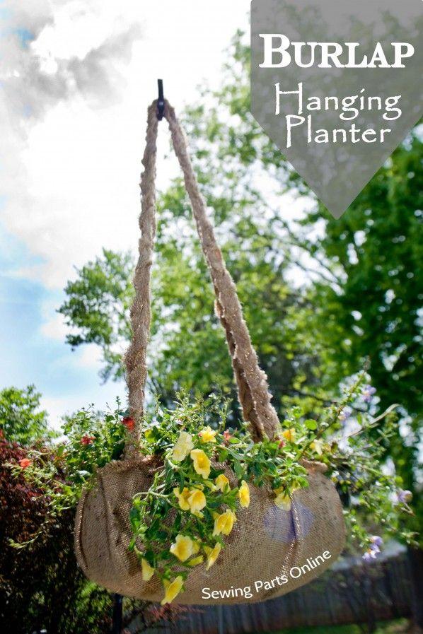 DIY Burlap Hanging Planter Tutorial Burlap, Planters and