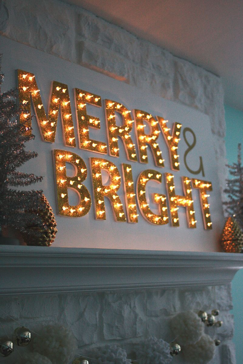 Christmas Light Up Marquee DIY Christmas lights