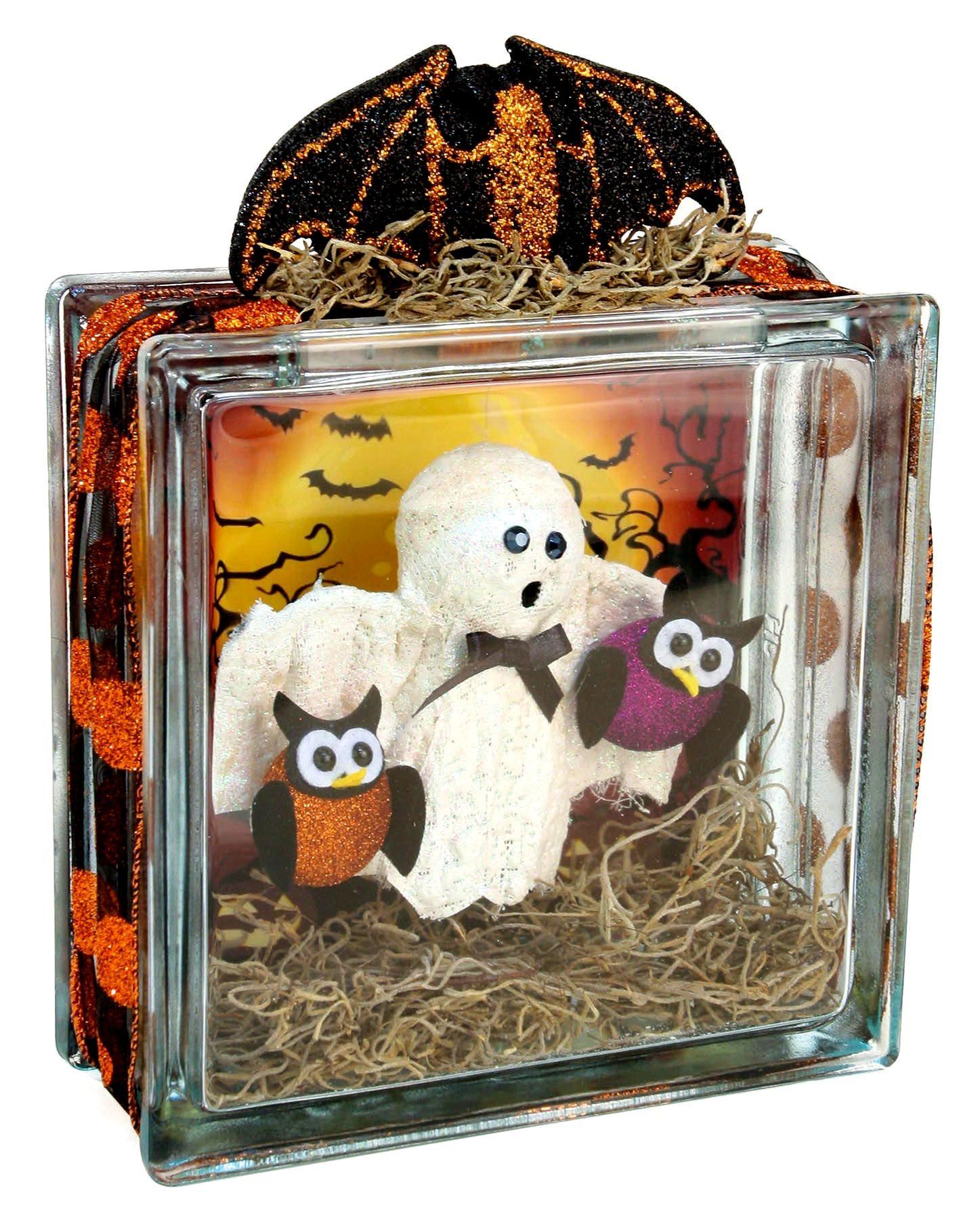 Nicole™ Crafts Ghost Glass Block glassblock halloween