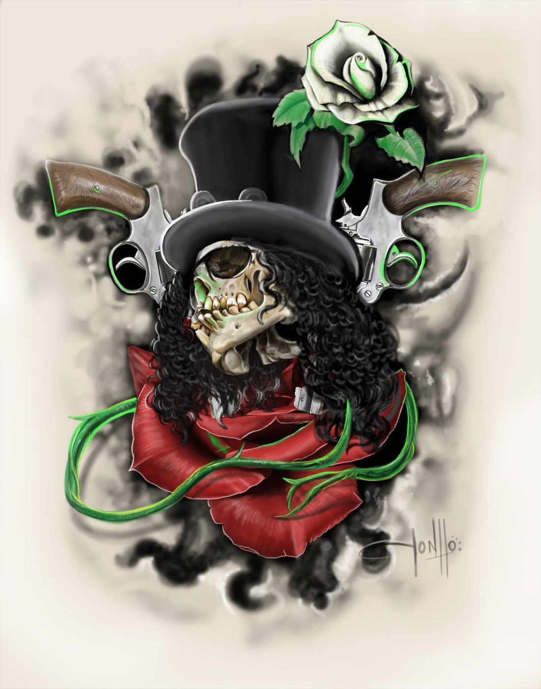 Images For > Guns N Roses Art Slash (Saul Hudson