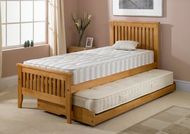 Olivia Guestbed Single Guest Bed Inc Mattresses Light Wood