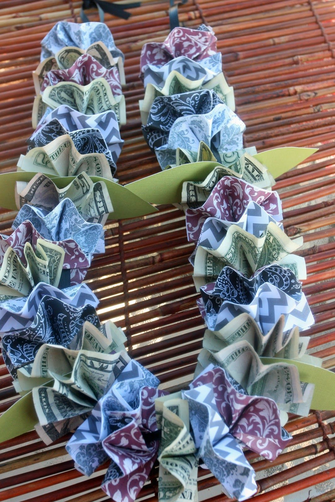 Adventures of a busybee money and paper lei tutorial
