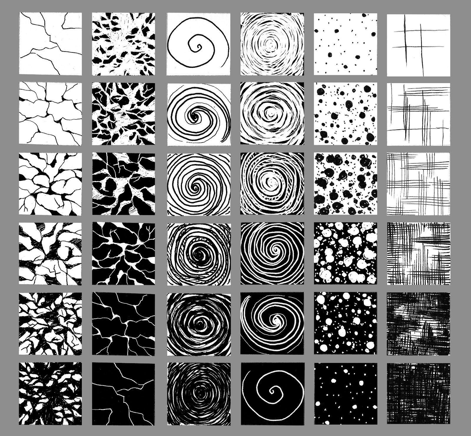 Texture Drawing Examples Hanguyen 36 Custom Textures Art School