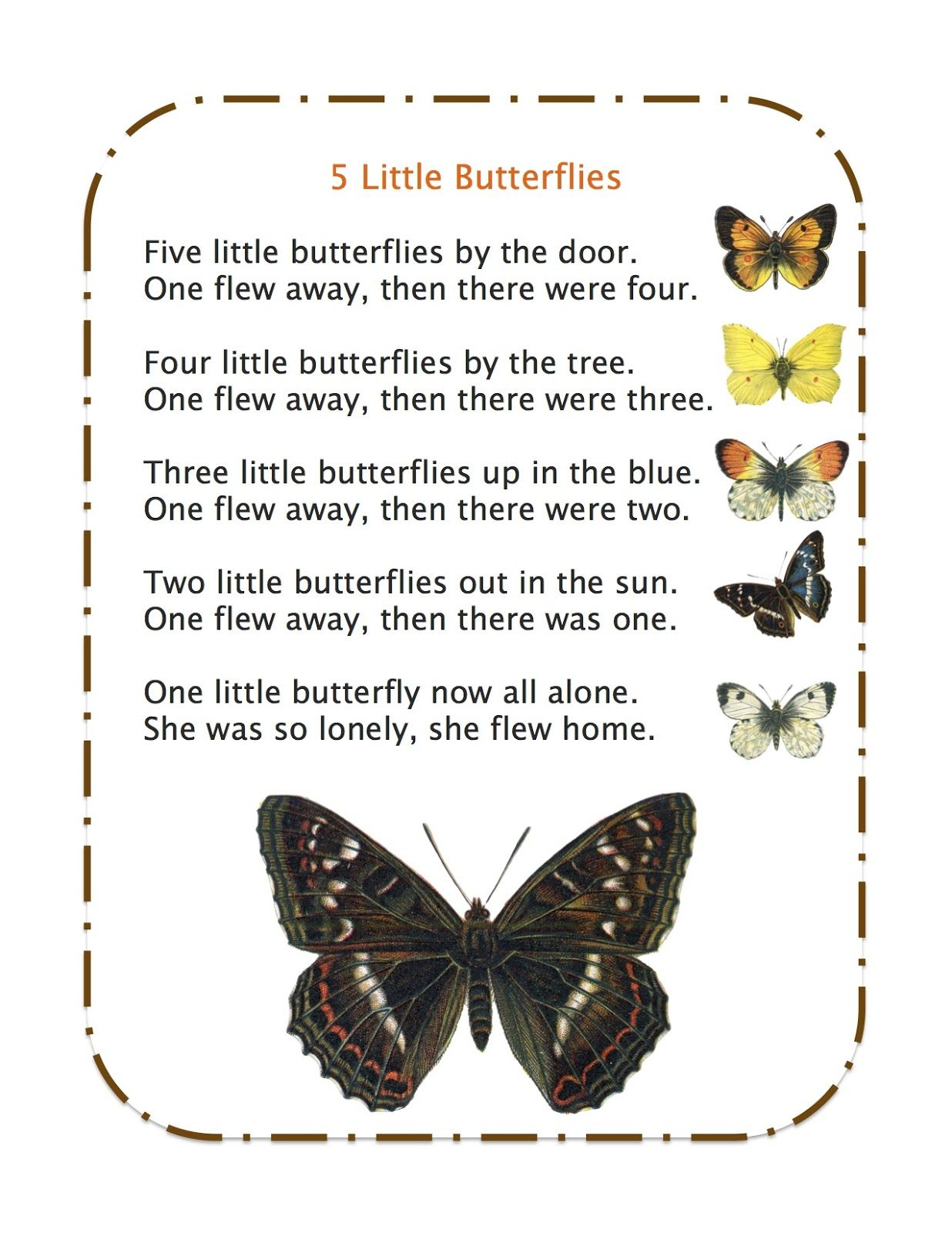 Preschool Printables Butterfly