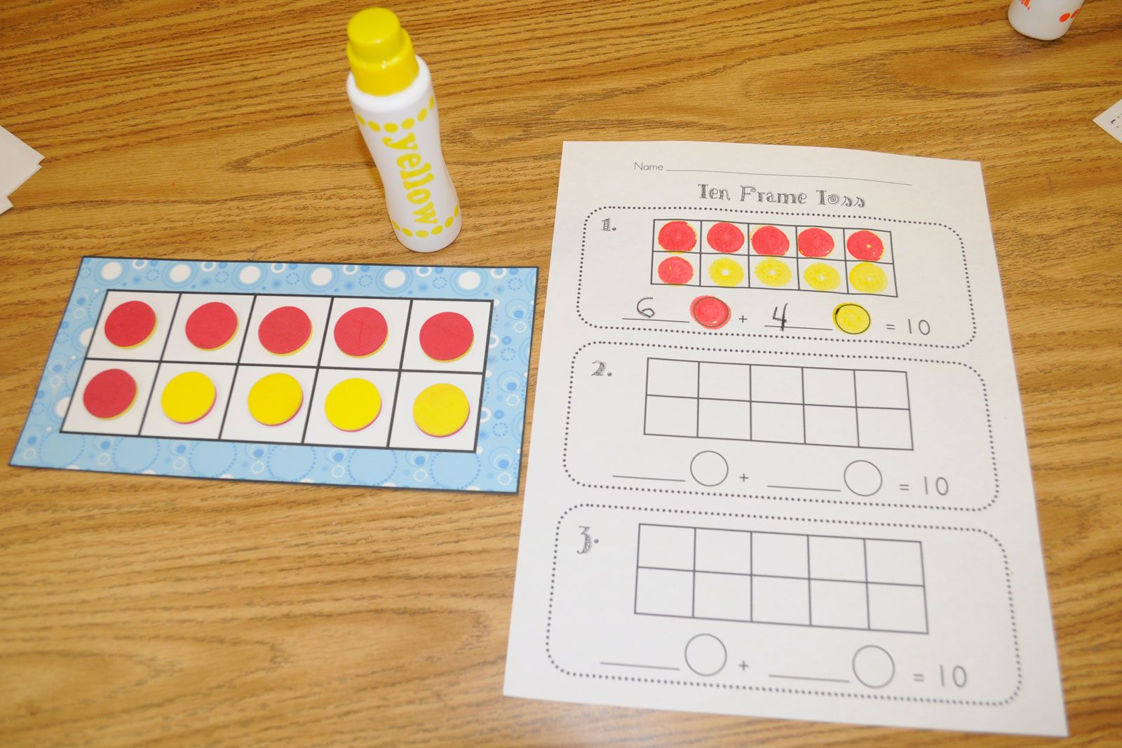 To Play Students Shake And Spill A Cup Of Ten Two Color