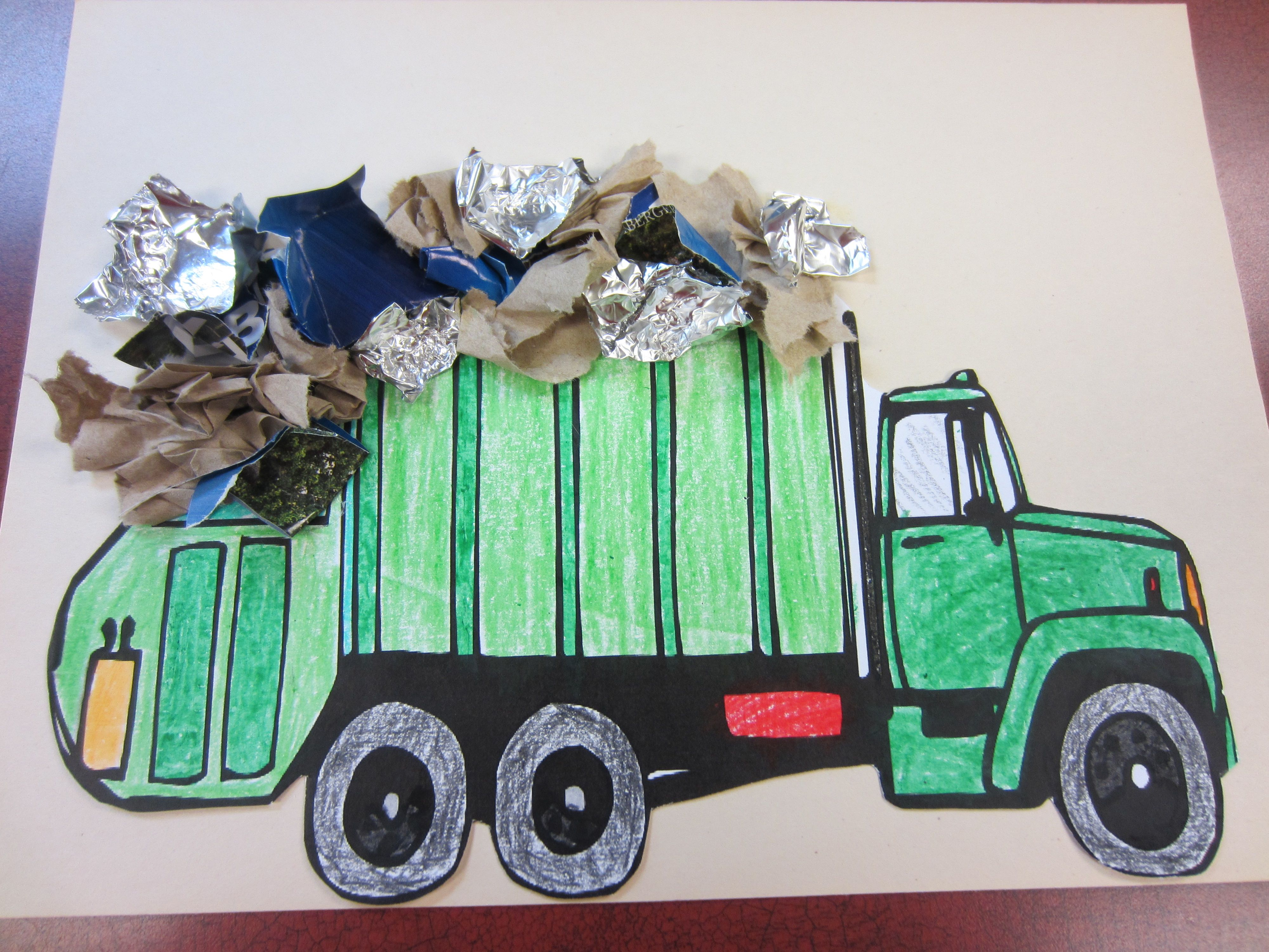 Garbage Truck We Printed A Picture Of A Garbage Truck On