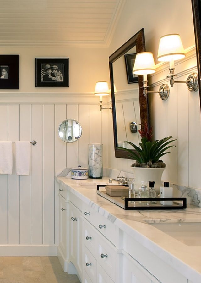 White Bathroom Beadboard I N T E R I O R Pinterest