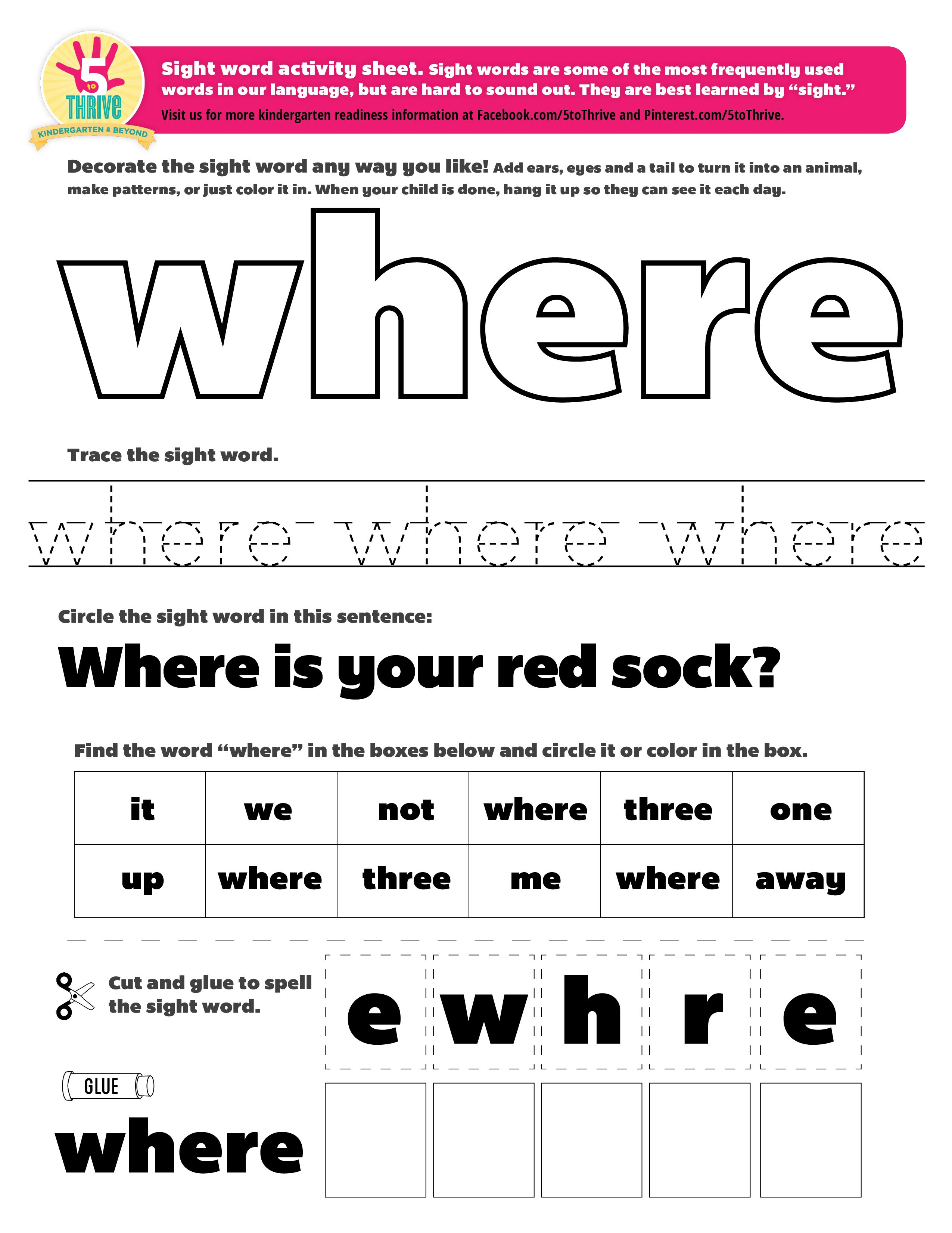 Where Did You Put The Cat This Week S Sight Word Where Sight Words Are Some Of The Most