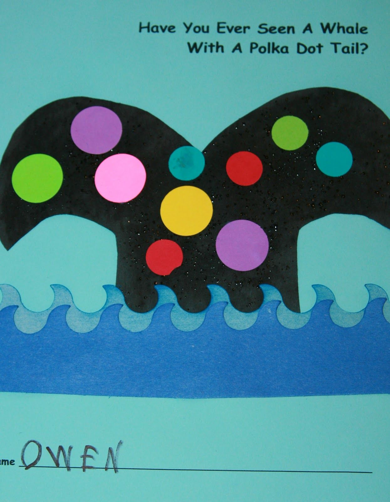 Have You Ever Seen A Whale With A Polka Dot Tail Nancy Nolan S Kindergarten Letter W Week
