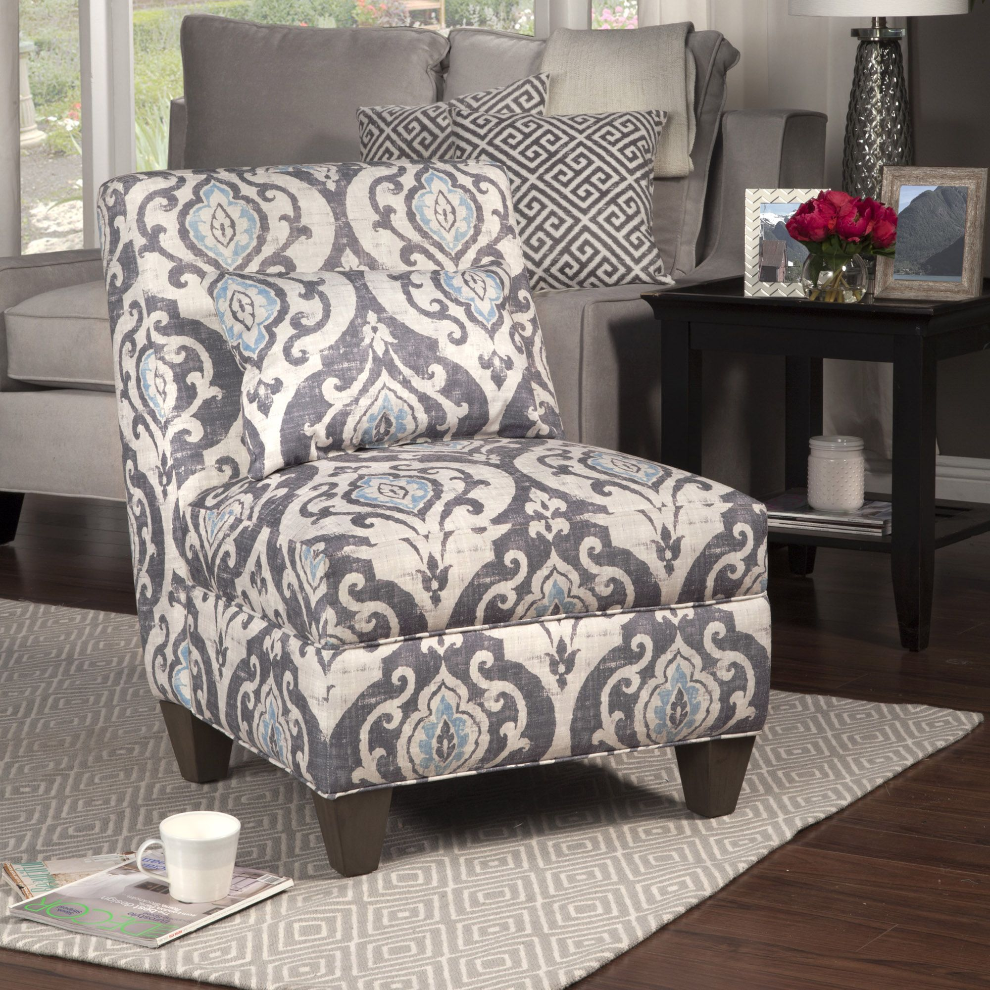 Blue Slate Large Accent Chair Slipper chairs, Decorative