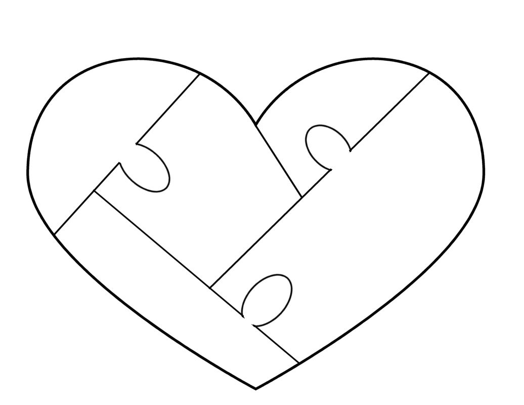 Heart Puzzle Template