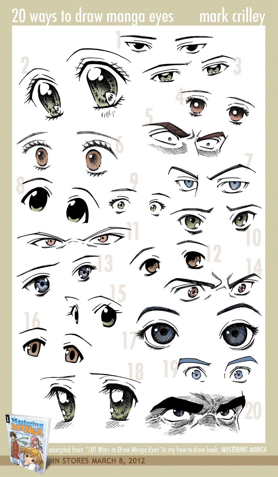 20 Ways to Draw Manga Eyes by