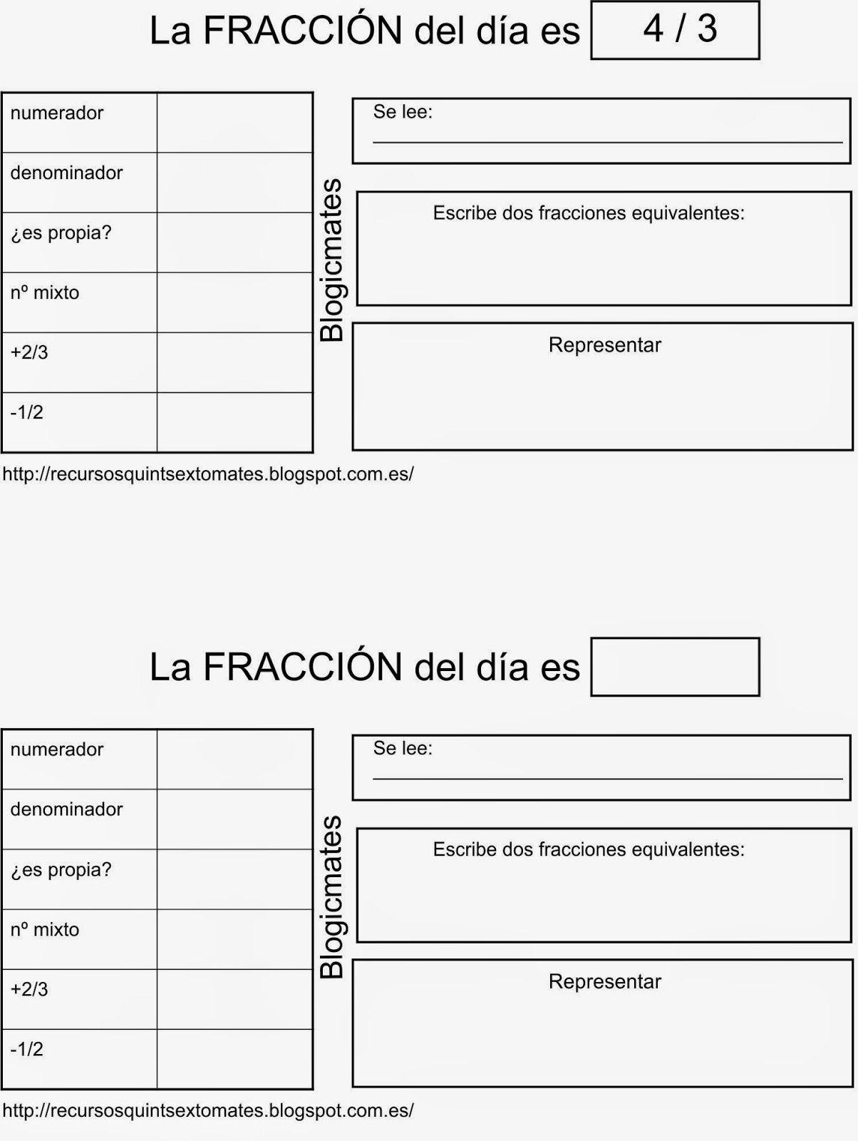 Blogicmates La Fraccion Del Dia Es