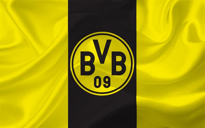 Download wallpapers Borussia Dortmund, Emblem, logo