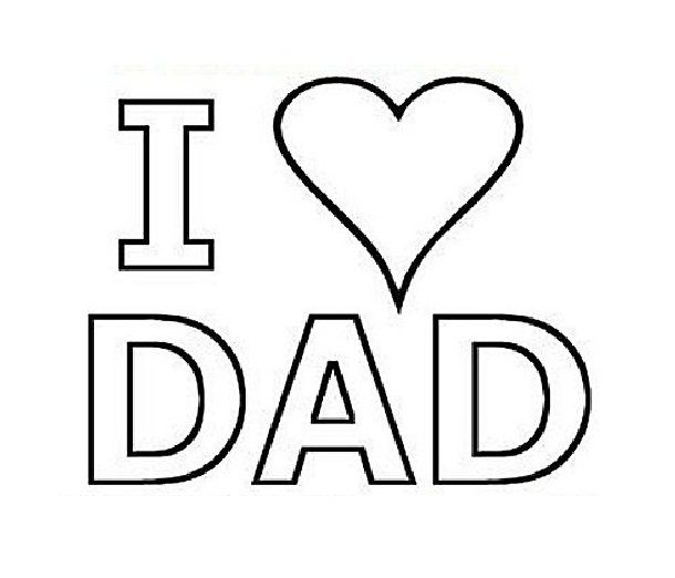 coloring pages love you dad and coloring on pinterest