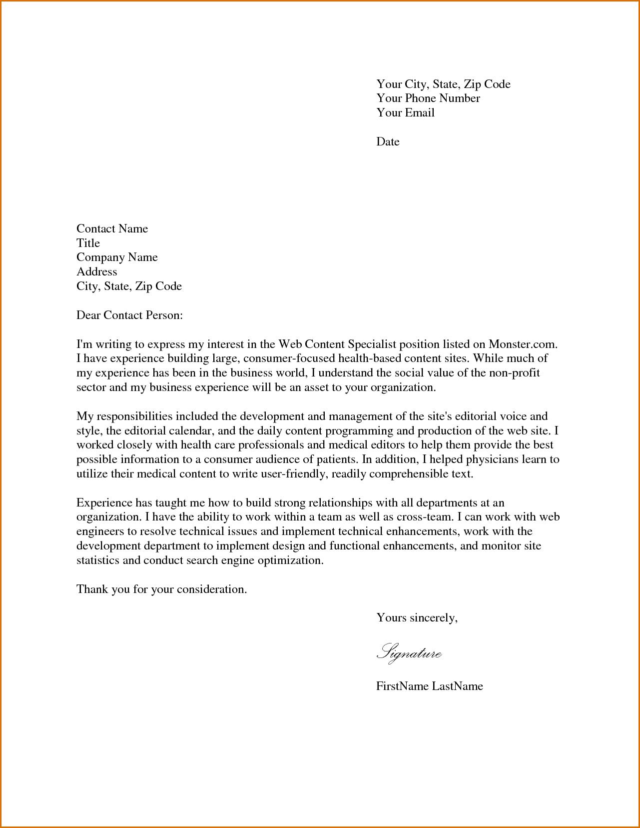 Bartender Resume Cover Letter Free Cover Letter Samples