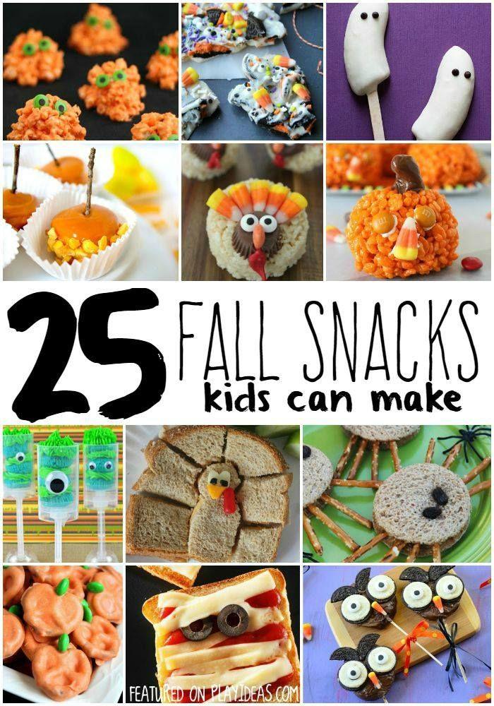 Fall Snacks Kids Can Make TREATS Pinterest Fall