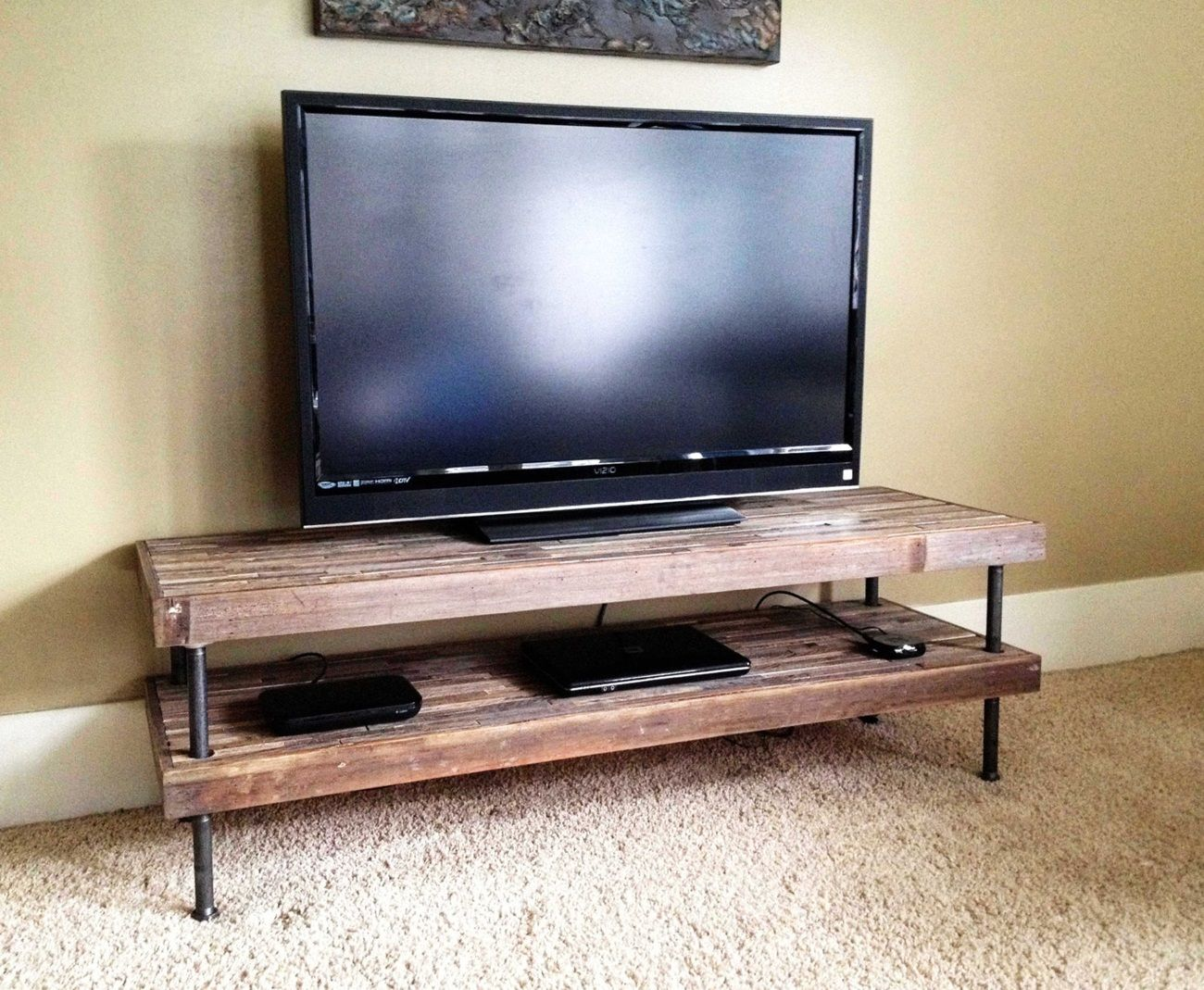 Mix Industrial And Rustic TV Stands http//stre