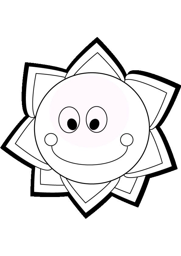 sun coloring page educational coloring pages pinterest