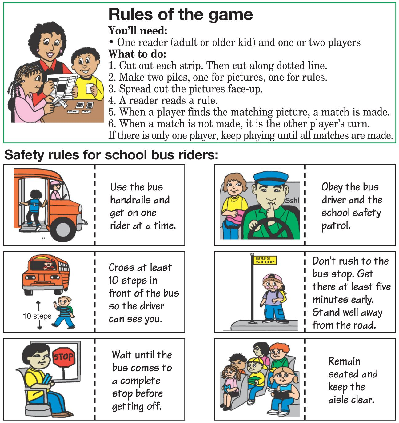 School Safety Rules School Safety Rules... My