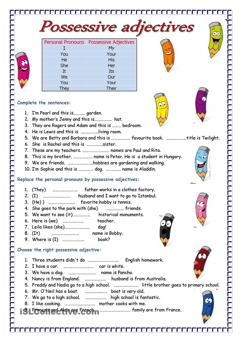 Adjectives FREE ESL worksheets English Language