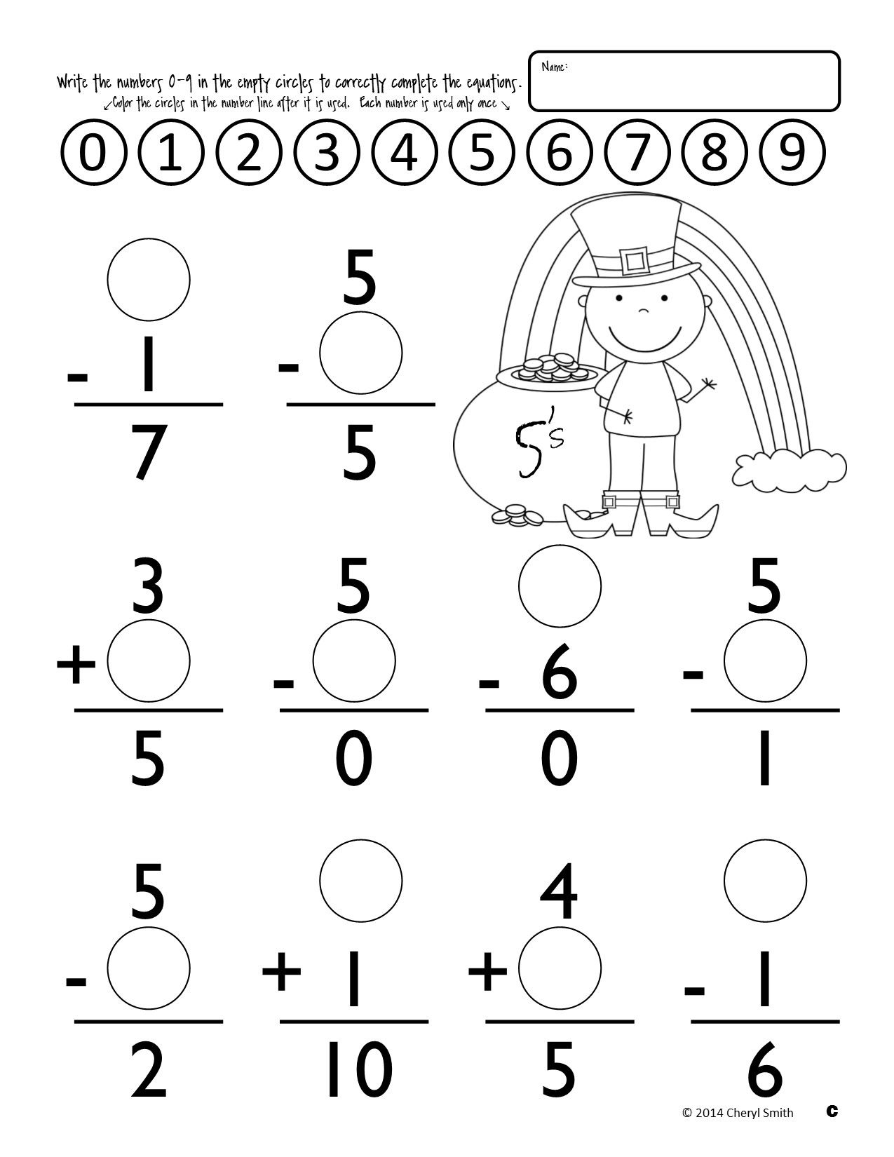 Math Facts St Patrick S Day Easter Addition And