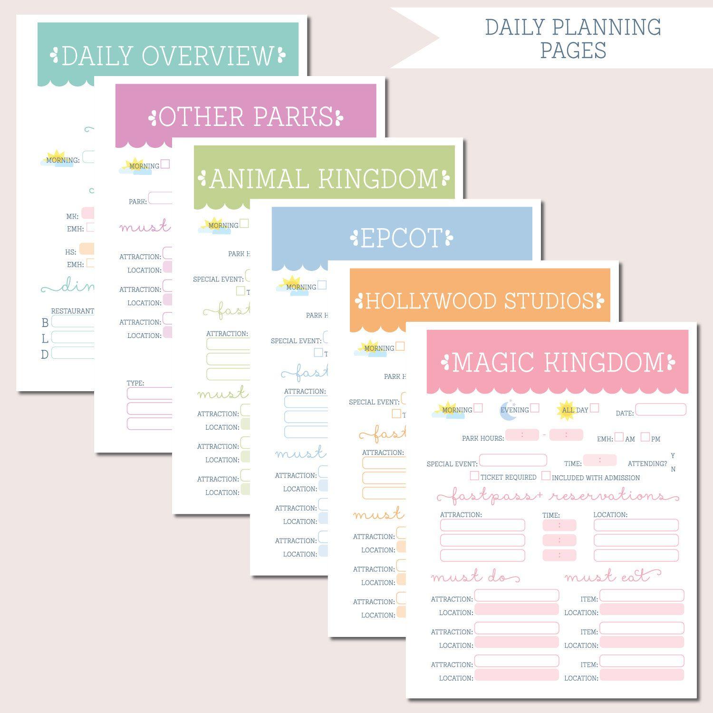 Walt Disney World Trip Planning Binder