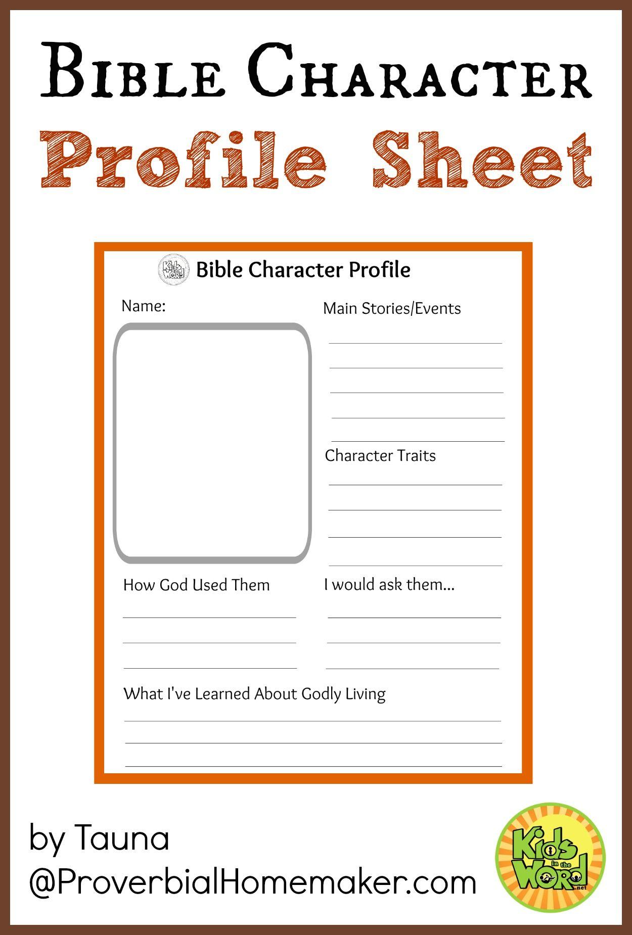 Bible Worksheet Faith