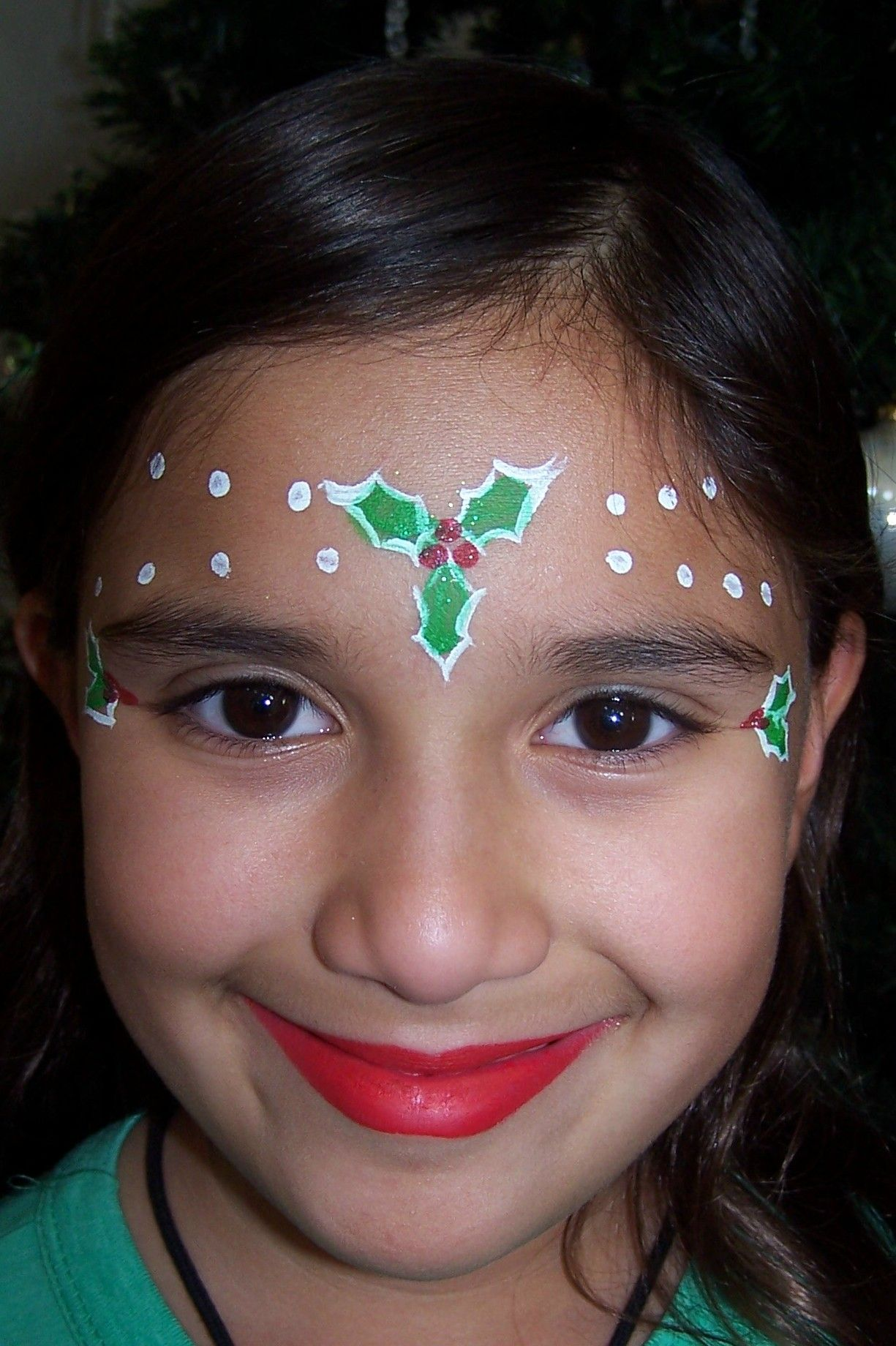 Holly Princess Face Painting Christmas Pinterest