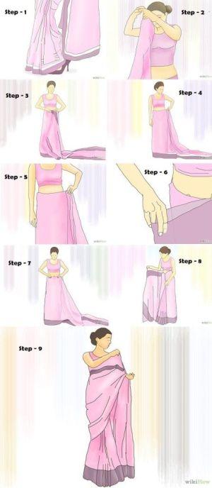 #tutorial on #howto wear #sari | DIY | Pinterest | Saris