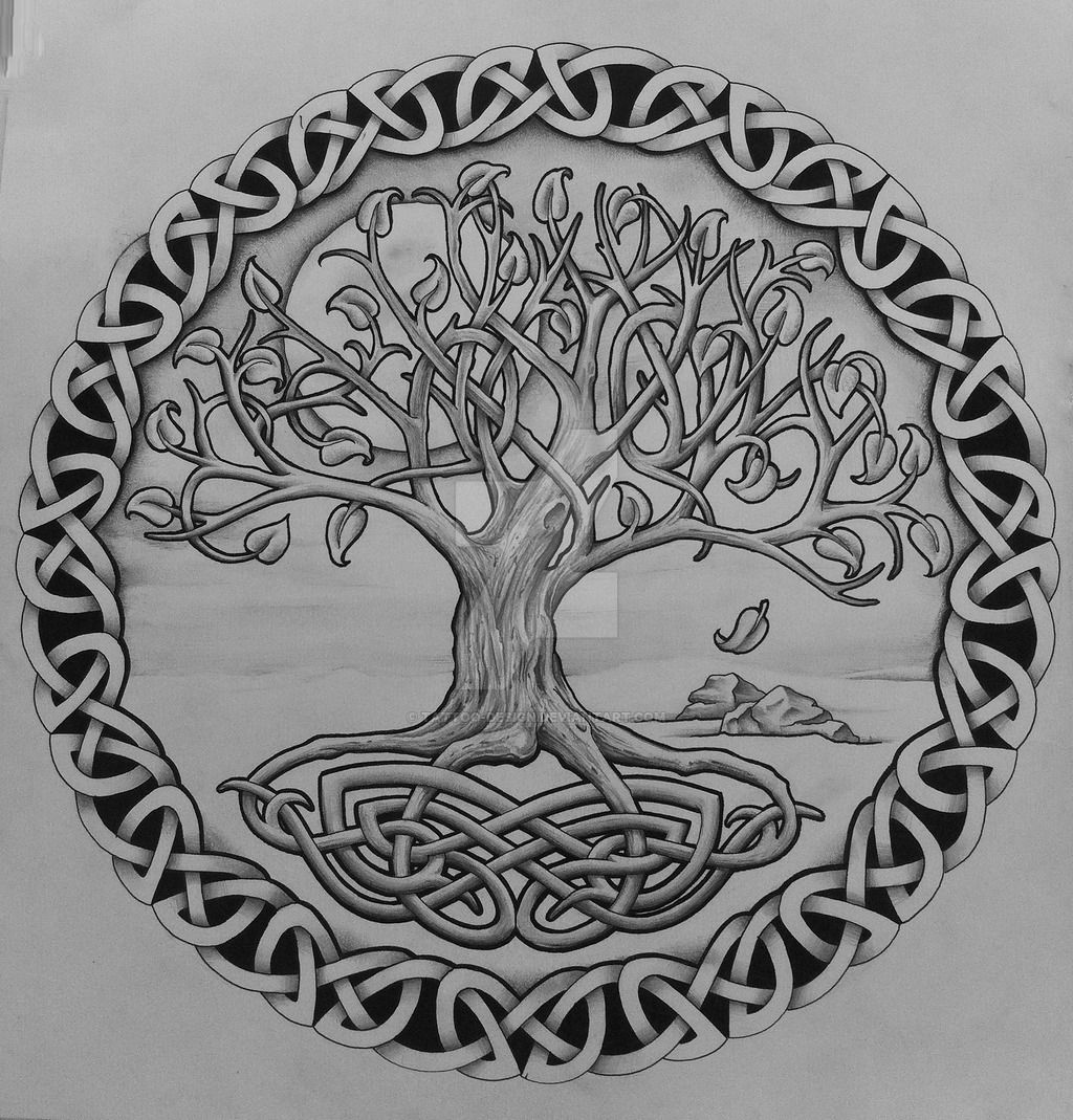 Tree of life with rocks by on