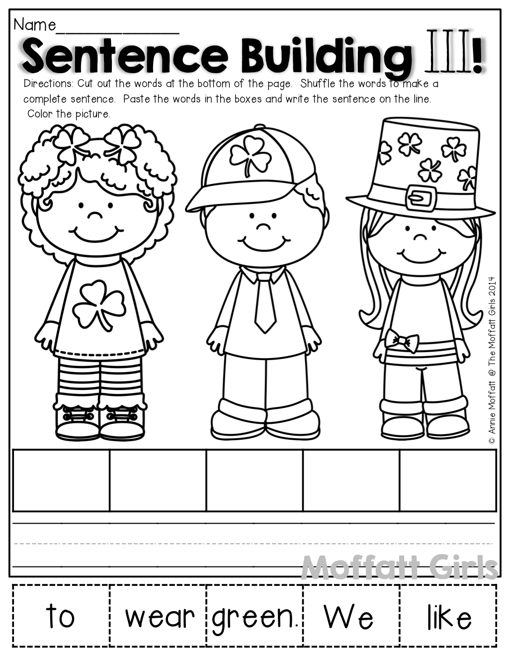 Kindergarten Worksheets Scrambled Sentences Kindergarten