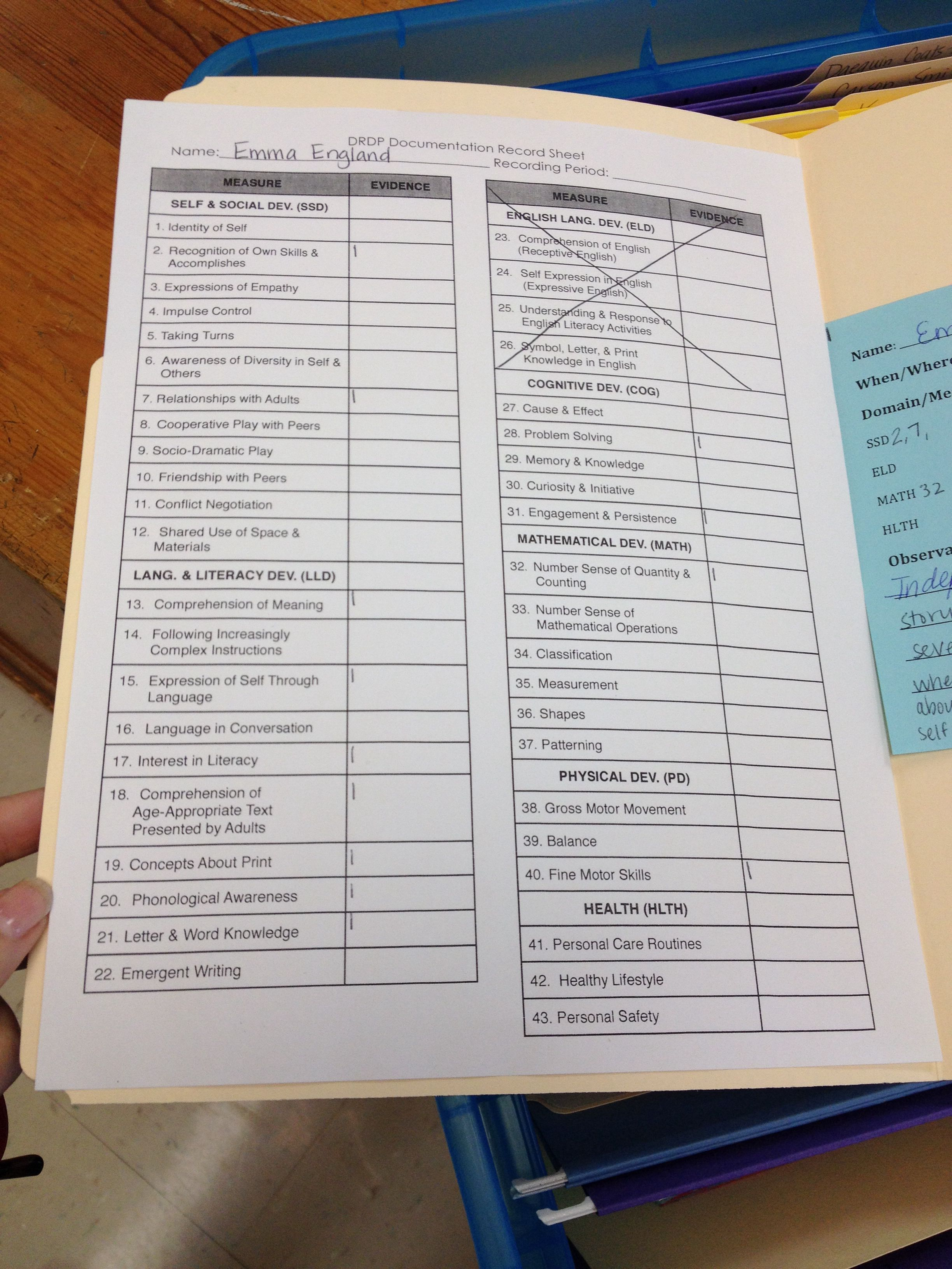 Another Quick Way To Track Individual Students Progress Toward A Completed Collection Of