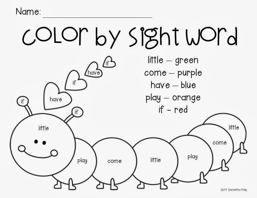 Kindergarten Sight Word Freebie