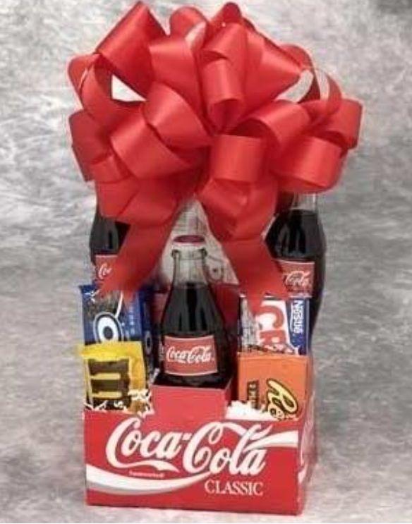 Coca Cola Themed Gift Basket Christmas Pinterest