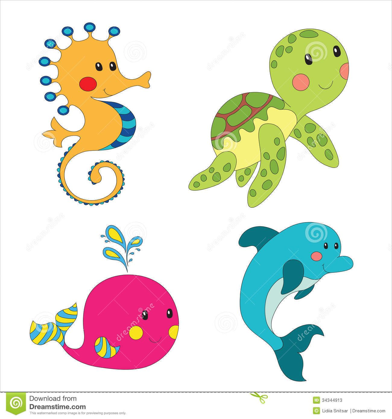 sea animal shaped baby lovey picture ideas Set of